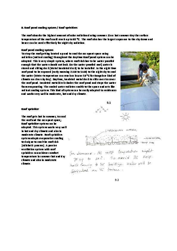 PDF) 9  Roof pond cooling system / Roof sprinklers | Asmaa