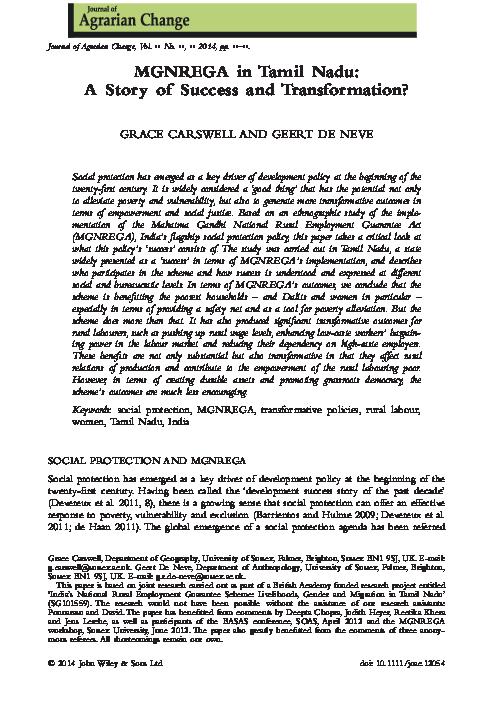 mgnrega phd thesis