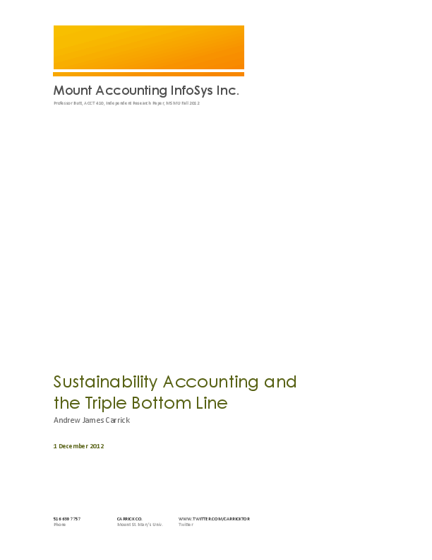 Tripple bottom line accounting