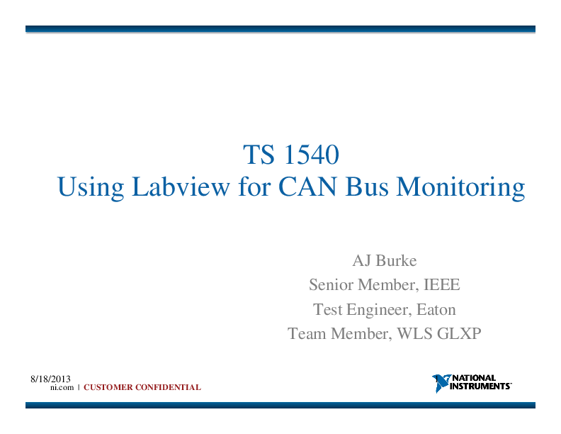 PDF) TS1540 - Using LabVIEW for CAN Bus Monitoring | AJ