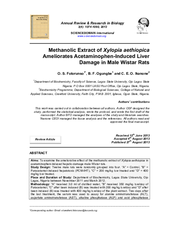 literature review on xylopia aethiopica