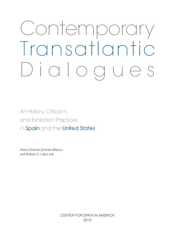 PDF) Contemporary Transatlantic D i a l o g u e s Art History