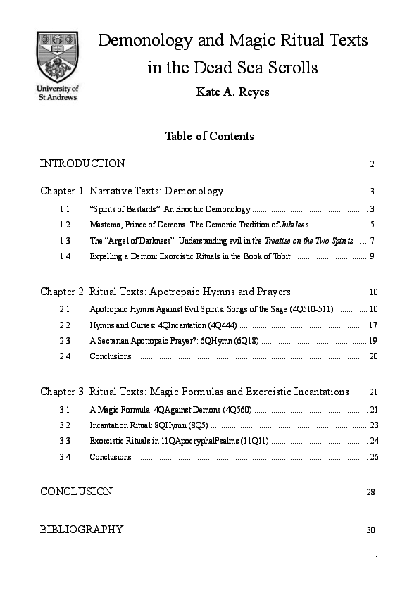 PDF) Demonology and Magic Ritual Texts_Kate A Reyes | Kate A Reyes