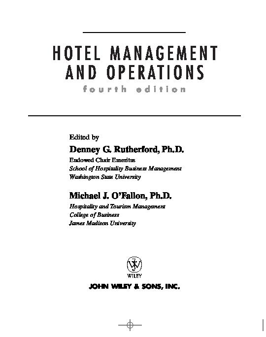 PDF) HOTEL MANAGEMENT | jip akit - Academia edu
