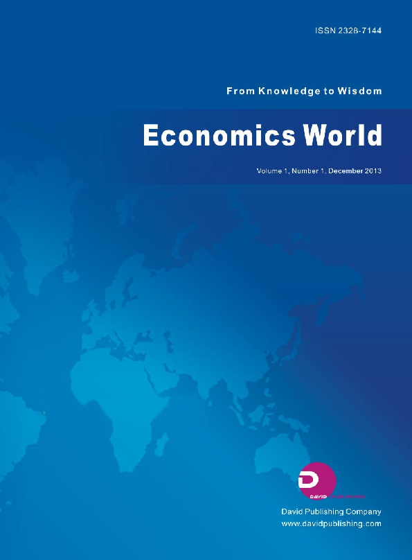 PDF) Economics World (ISSN 2328-7144) Vol 1, No 1, 2013 | Economics