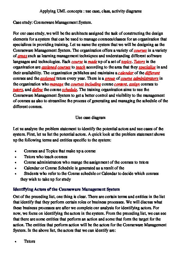 PDF) applying UML concepts | Essam Adwan - Academia edu