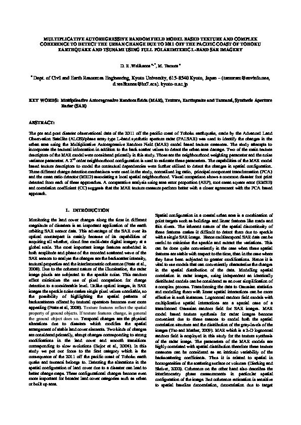 PDF) MULTIPLICATIVE AUTOREGRESSIVE RANDOM FIELD MODEL BASED TEXTURE