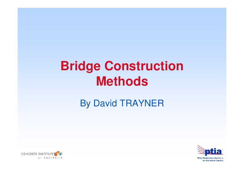 PDF) Bridge Construction Methods Contents   Sudarman Diraksa