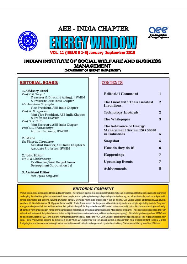 PDF) Solar Energy - Sustainable Energy Option | Ganesh Hegde