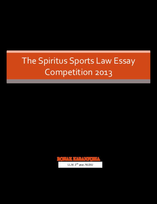 sports law essay nlsiu
