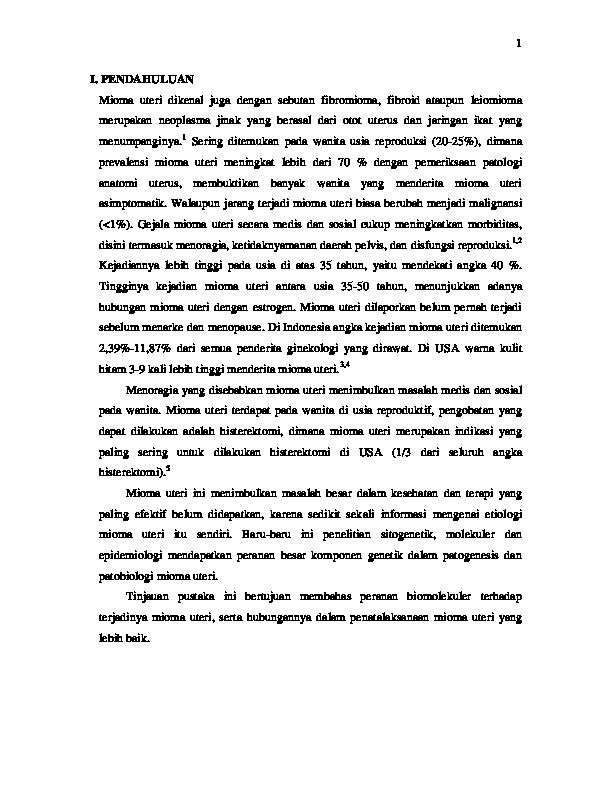Pdf Mioma Uteri Dikenal Juga Dengan Sebutan Fibromioma Fibroid Ataupun Leiomioma Bima Uii Academia Edu