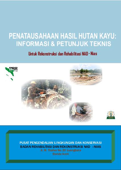Pdf Penatausahaan Hasil Hutan Kayu Informasi Petunjuk