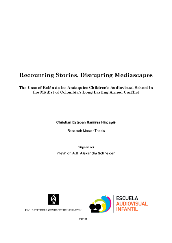 Recounting Stories, Disrupting Mediascapes The Case of Belén