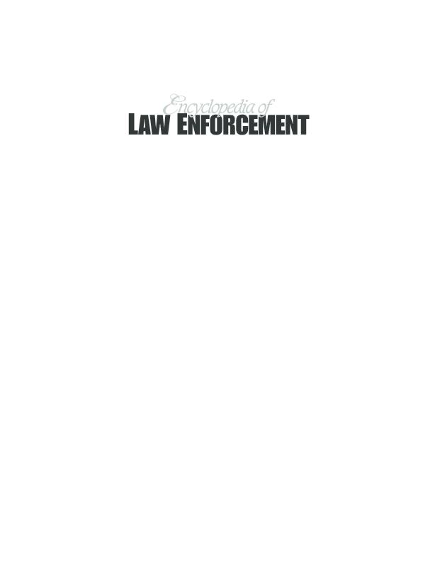 Encyclopedia Of Law Enforcement Shabbir Shiddiky Academia