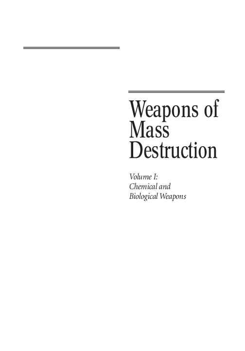 PDF) Weapons of Mass Destruction Volume I: Chemical and