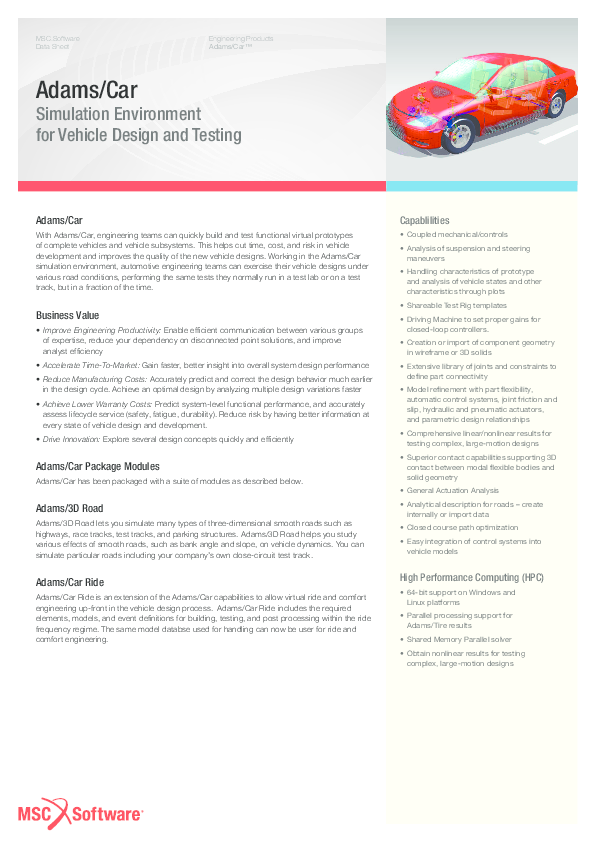 PDF) Adams Car DS   Sanket Pujari - Academia edu