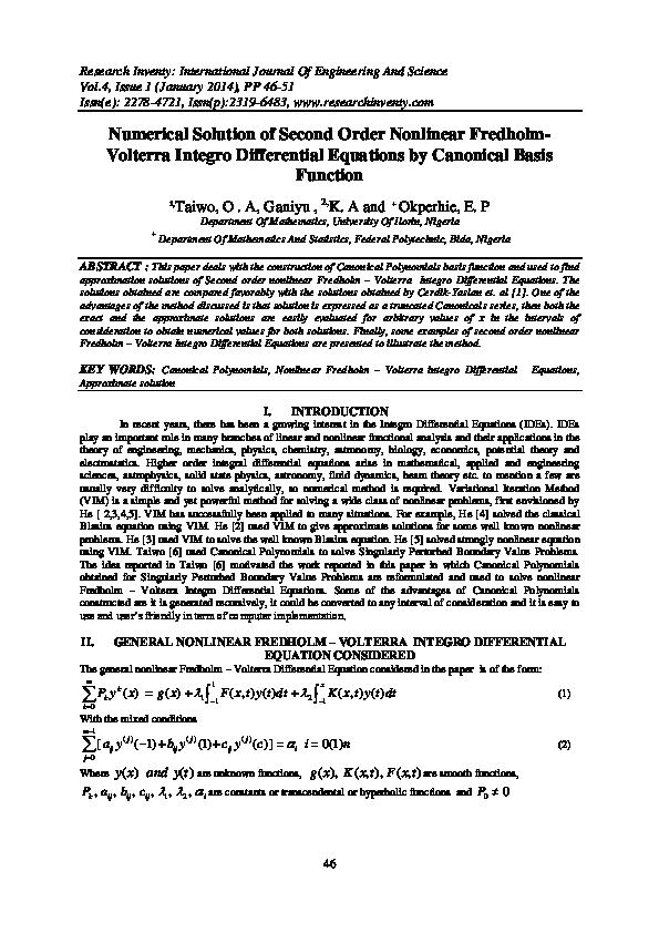 PDF) Research Inventy : International Journal of Engineering