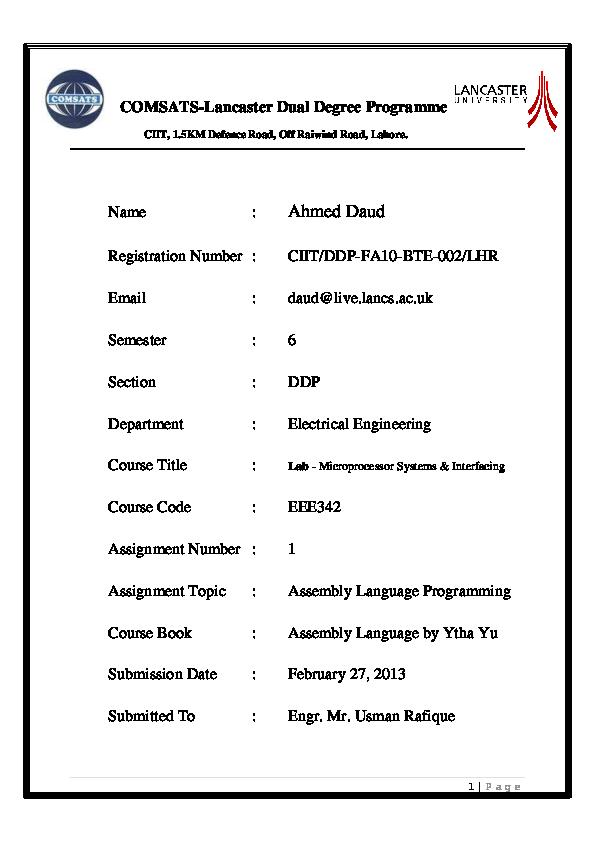 PDF) 8086-88 assembly language program | Ahmed Daud