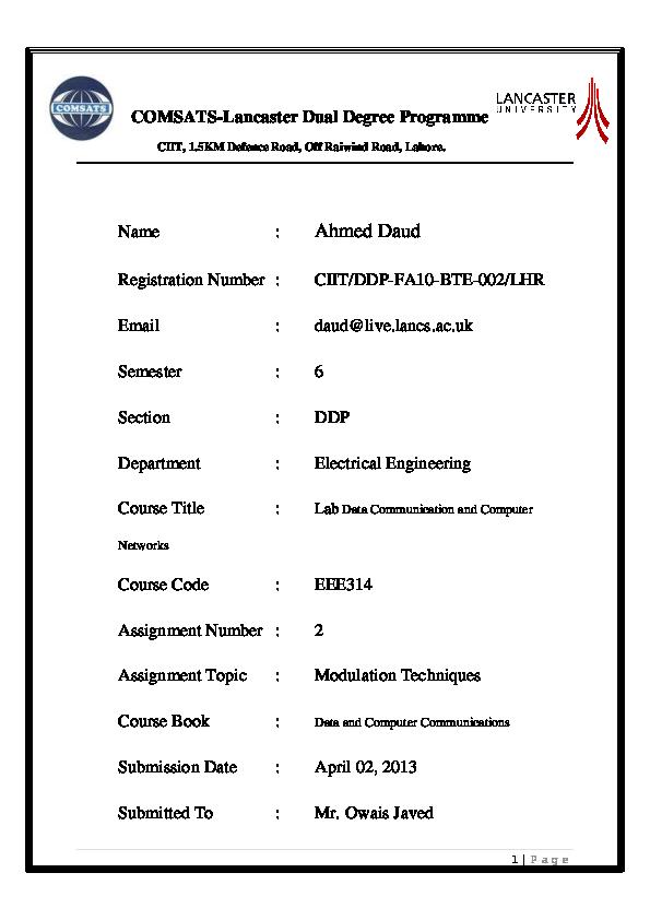 PDF) Modulation Techniques MATLAB Code | Ahmed Daud