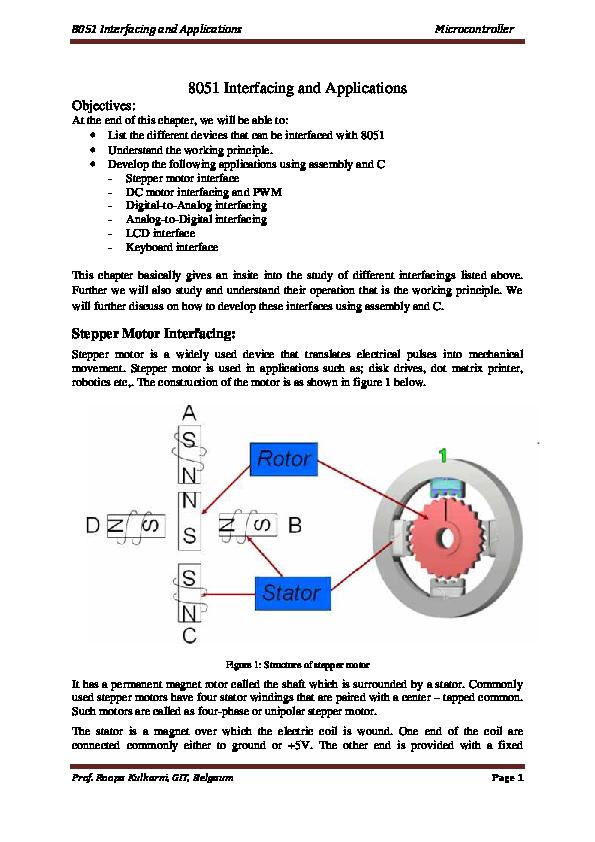 8051 Interfacing and Applications Microcontroller | Janani R