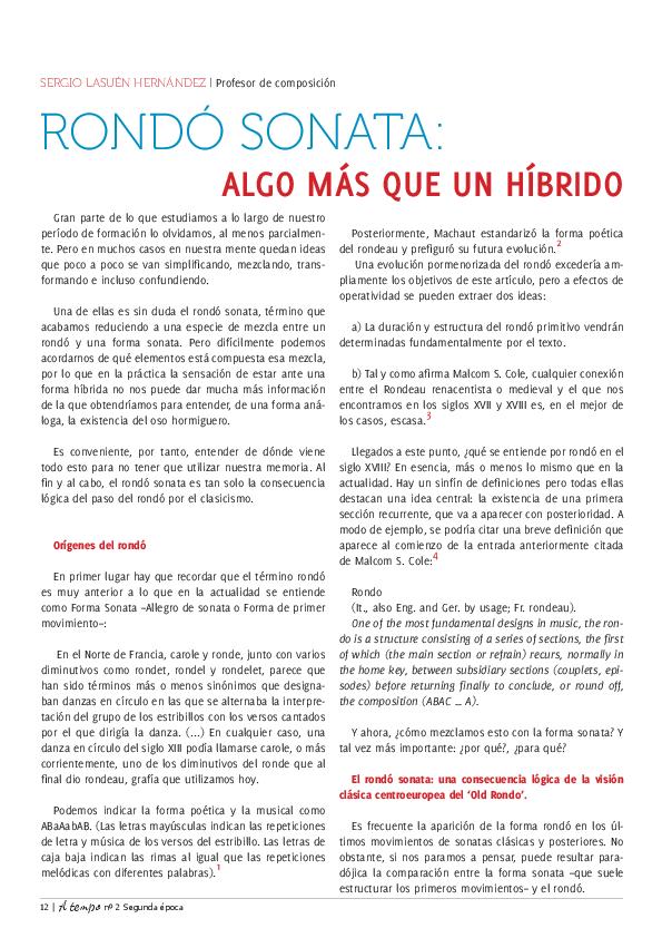 Pdf Rondó Sonata Algo Más Que Un Híbrido Sergio Lasuén