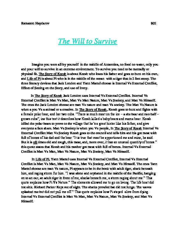 Life story essay