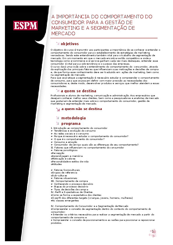 Comportamento Do Consumidor Pdf