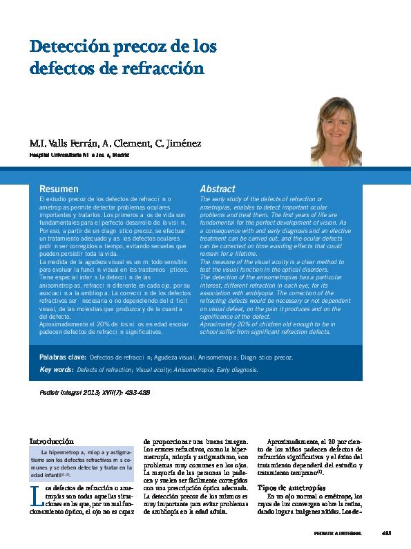fe19cc7fa1 Detección precoz de los defectos de refracción | MaRifer Hernandez ...