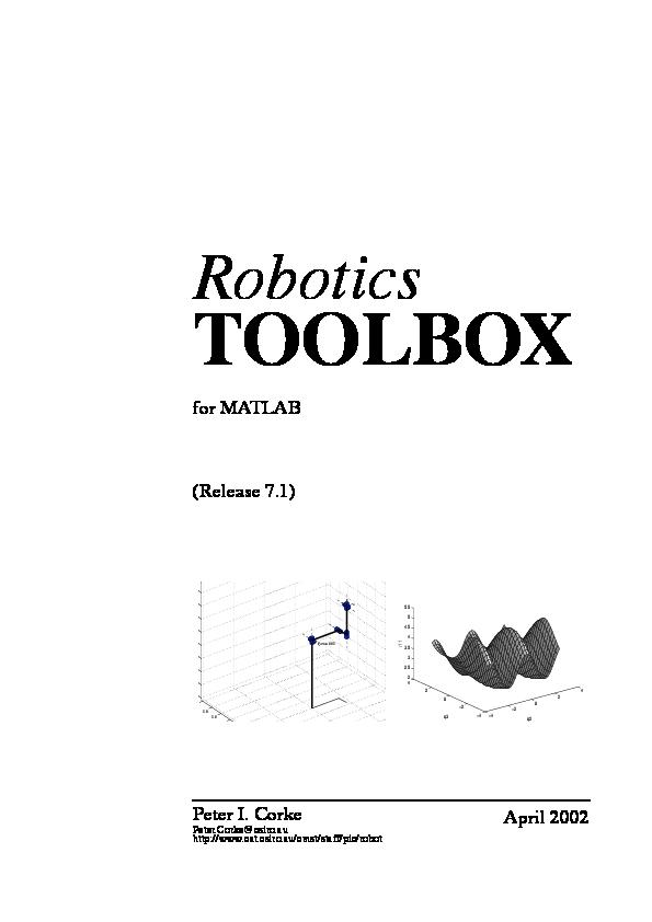 PDF) Robot Toolbox MATLAB | andres felipe patino escudero