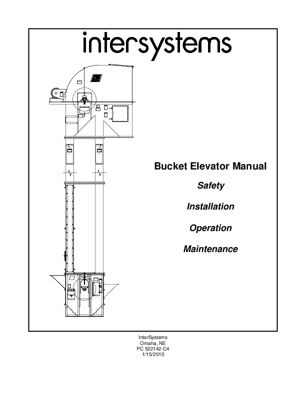 (PDF) Bucket Elevator Manual Safety Installation Operation