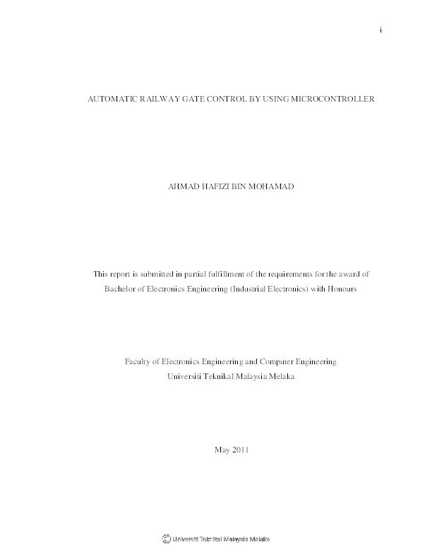 PDF) i AUTOMATIC RAILWAY GATE CONTROL BY USING