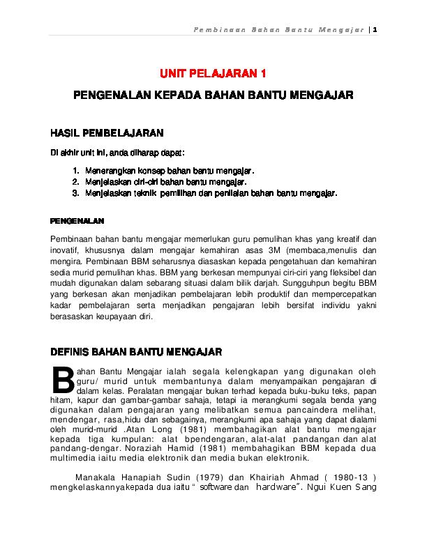 Pdf Bahan Bantu Mengajar Siti N U R I M A H Yunus Academia Edu