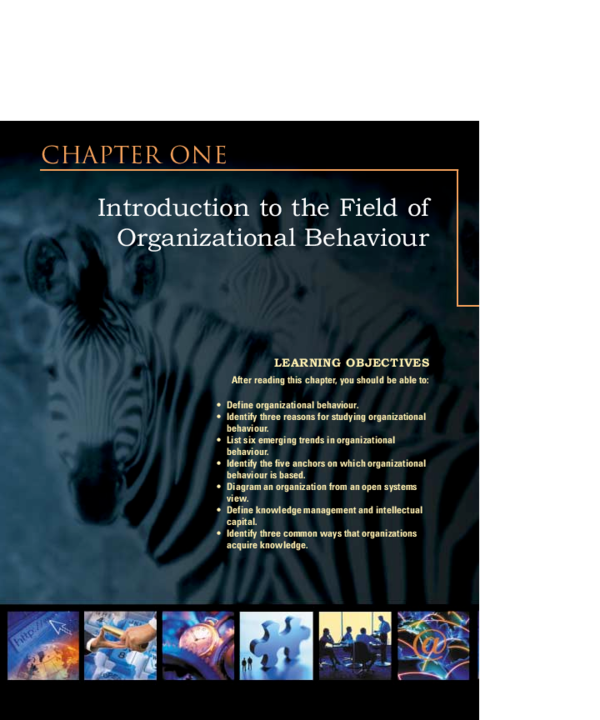 PDF) Chapter ONE LEARNING OBJECTIVES Introduction to the