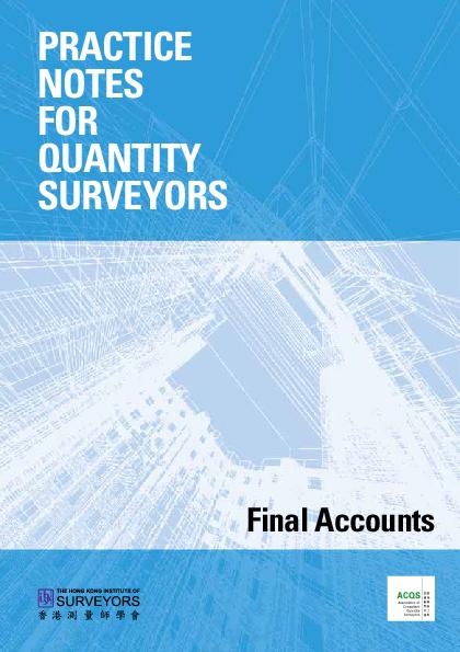 PDF) PRACTICE NOTES FOR QUANTITY SURVEYORS Final Accounts | Danisha