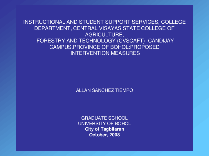PPT) My Thesis Power Point Presentation | Allan Tiempo