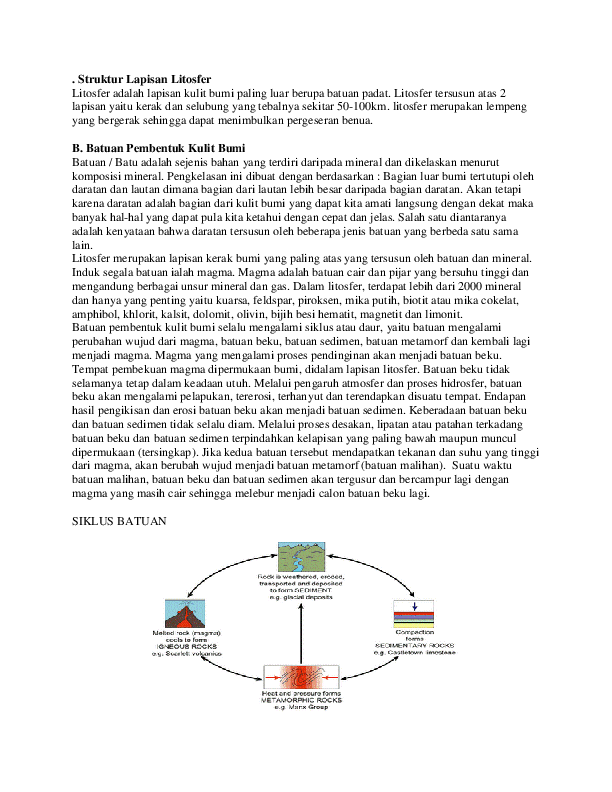 DOC) Struktur Lapisan Litosfer   eko triatmojo - Academia edu