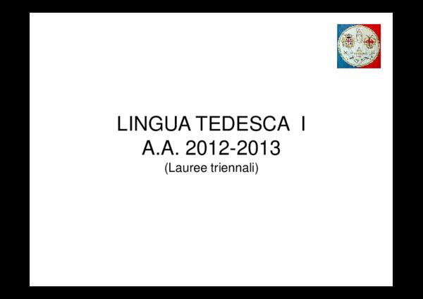 Pdf Lingua Tedesca I Francesco Gravina Academia Edu