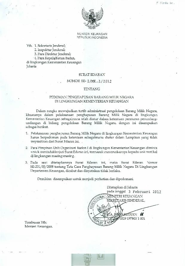 Pdf Menteri Keuangan Republik Indonesia Ari Ku Academiaedu