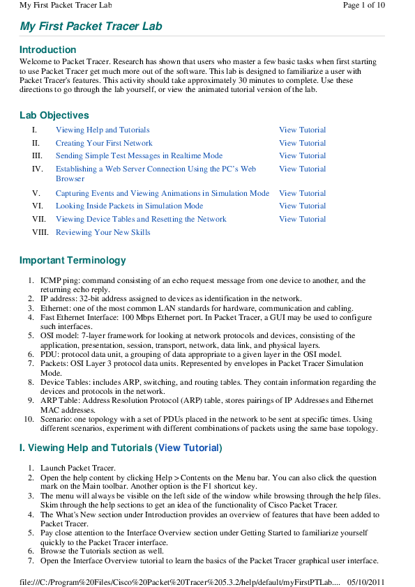 PDF) My First Packet Tracer Lab | raja pirian - Academia edu
