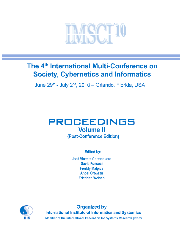 Proceedings of the 4th International Multi-Conference on Society ... 3389a978eb4