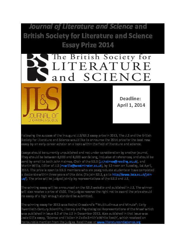 bsls essay prize