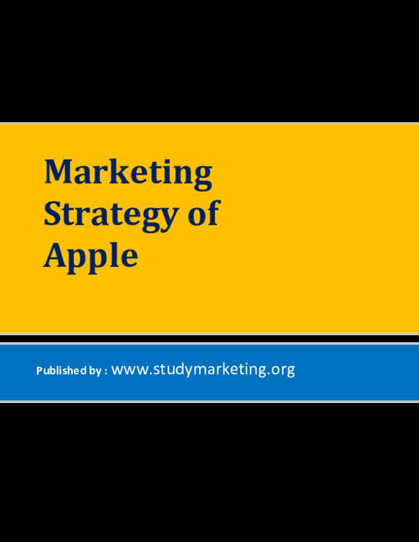 PDF) Marketing-Strategy-of-Apple | Arijit Kumar Saha