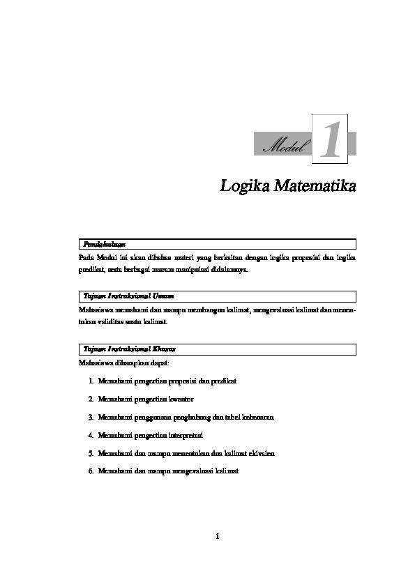 Materi Logika Matematika Sma Pdf
