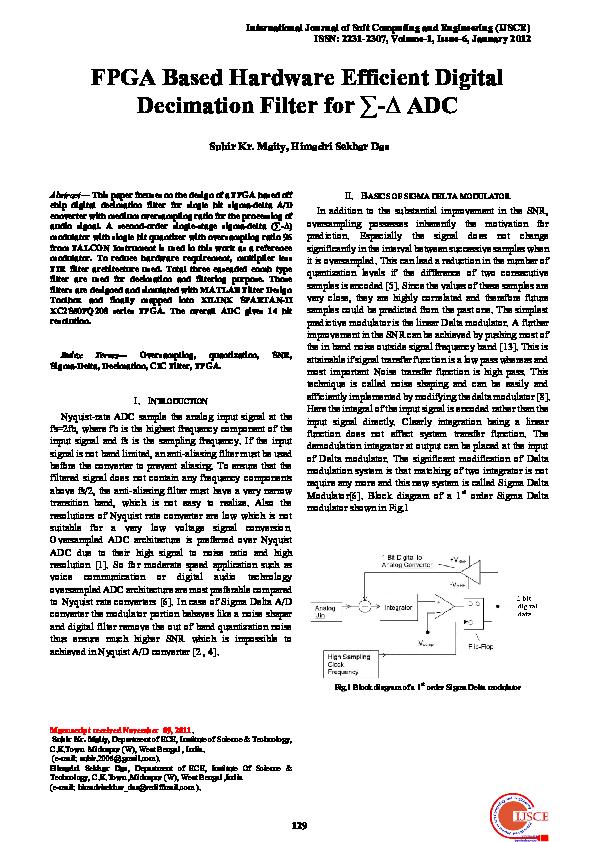 Peachy Pdf Fpga Based Digital Decimation Filter For Sigma Delta Adc Wiring 101 Capemaxxcnl