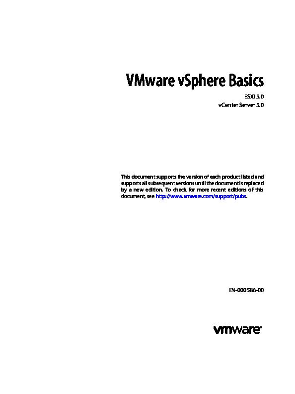 PDF) VMware vSphere Basics | qiu ying - Academia edu