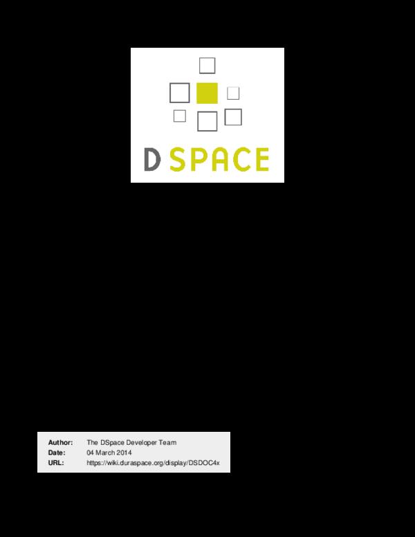 PDF) DSpace 4 x Documentation   carlos andres rosero zambrano