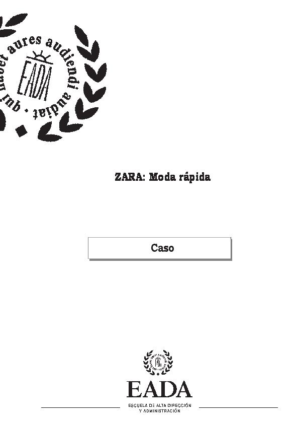 PDF) ZARA  Moda rápida Caso  d8b0506fe51