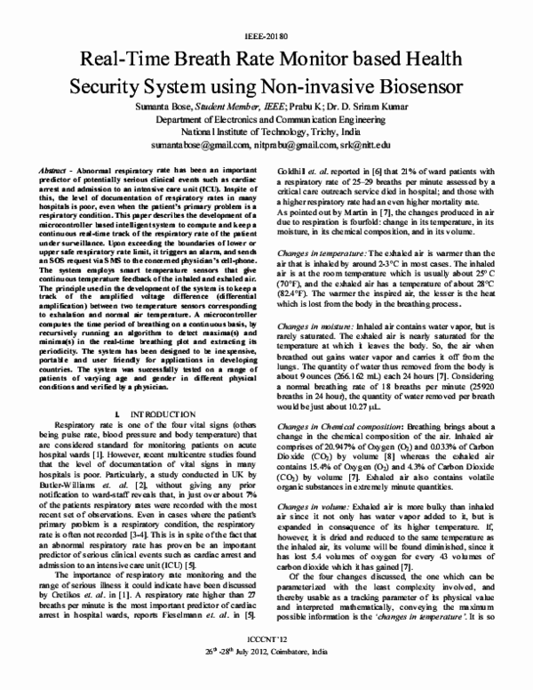 PDF) Real-time breath rate monitor based health security