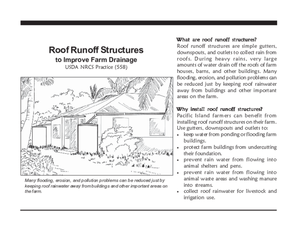 PDF) Roof Runoff Structures to Improve Farm Drainage: USDA