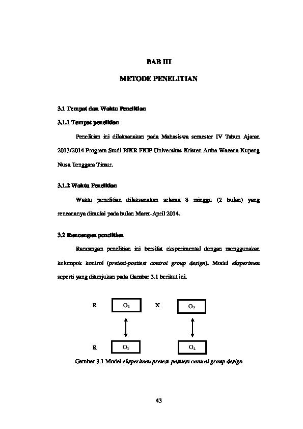 105 Gambar Desain Penelitian Pretest-Posttest Control Group Design HD Terbaru Unduh Gratis